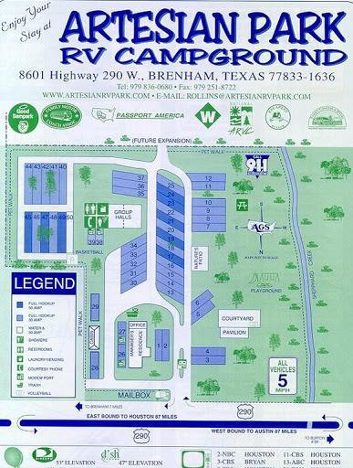 Artesian Park RV Campground - Brenham, Texas US | ParkAdvisor on bosque river map, llano river map, brazos river map, paluxy river map, frio river map, san marcos river map,